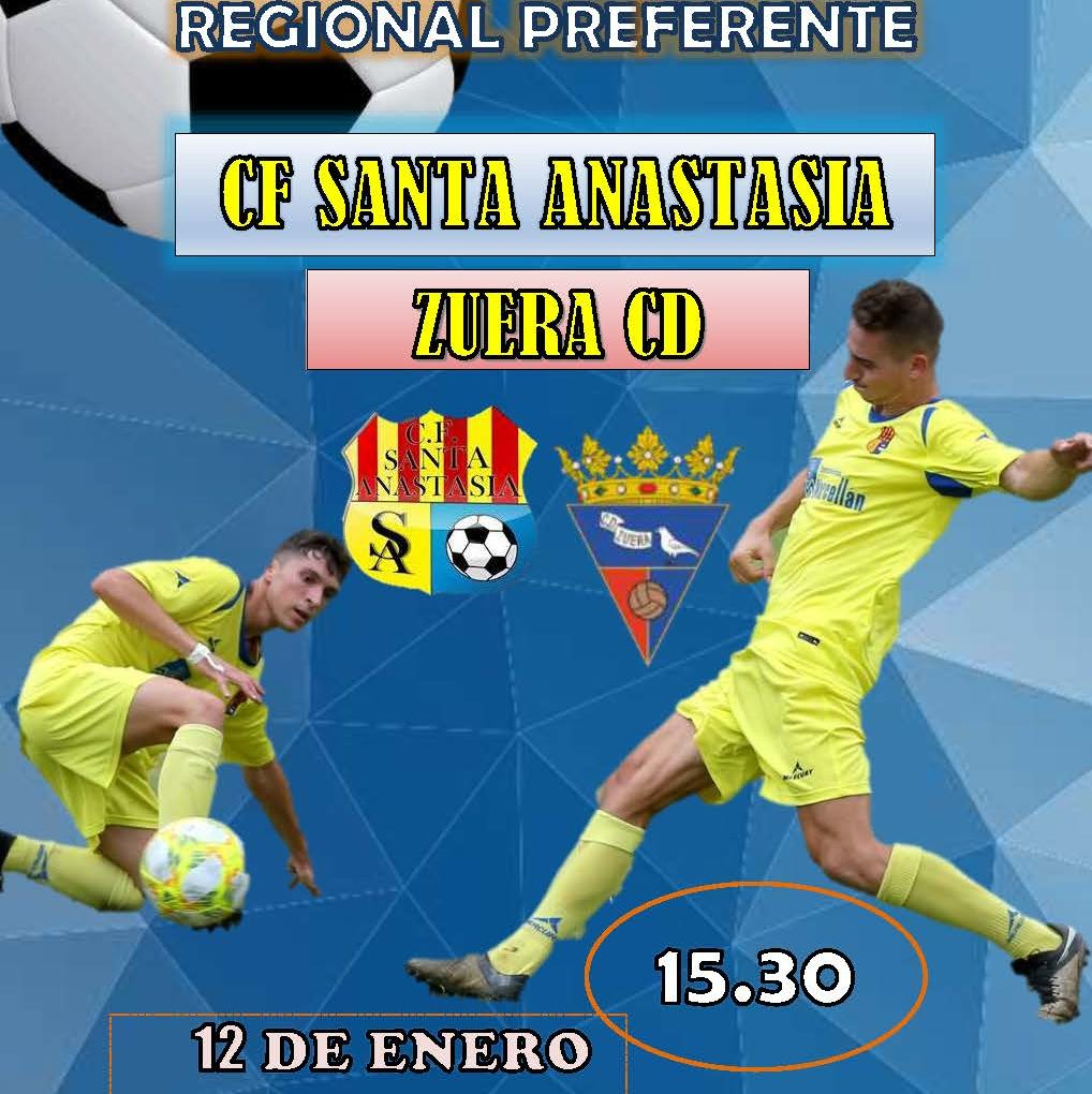 Fútbol Regional preferente C.F. Santa Anastasia - Zuera C. D.